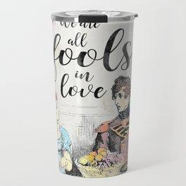 Pride and Prejudice - Fools in Love Travel Mug