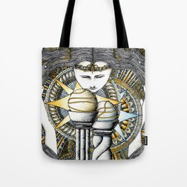 Lady of light Tote Bag