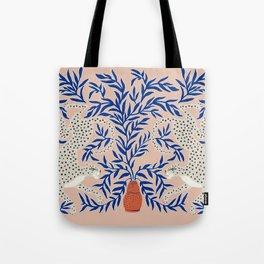 Leopard Vase Tote Bag