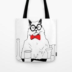 Chemistry Cat Stare Tote Bag