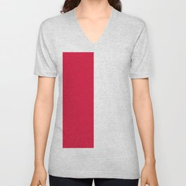 Flag of Poland Unisex V-Neck