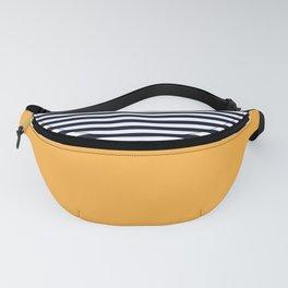Mustard & Navy Blue Half Striped Fanny Pack