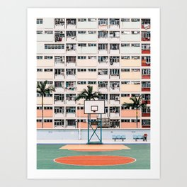 Hong Kong Rainbow Estate Art Print