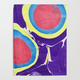 Marbled Color Poster