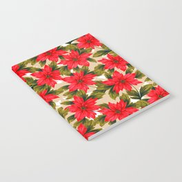 Poinsettia Notebook