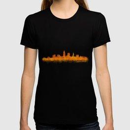 Cleveland City Skyline Hq V2 T-shirt