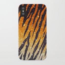 Tiger Shout Glitter Stripe iPhone Case