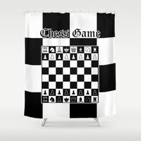 chess Shower Curtains featuring Chess Game by Maxvision