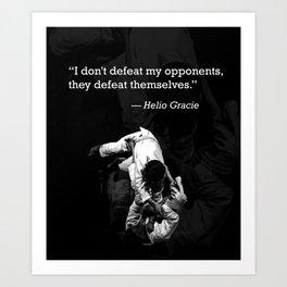 My Opponents. Art Print