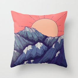 An early morning view Throw Pillow