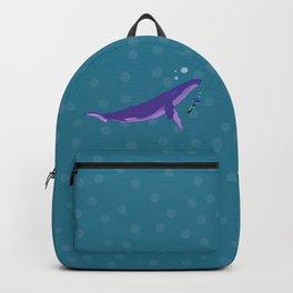 Electric Whales in a Polka Dot Sea Backpack