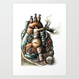 Mechanical Heart Art Print