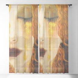 Freya's Golden Tears Viking Lore Sheer Curtain