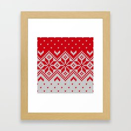 Winter knitted pattern 10 Framed Art Print