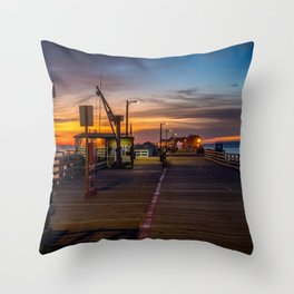 Sunrise on the Pier Avila Beach California Throw Pillow
