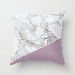 Baesic Purple Marble Throw Pillow