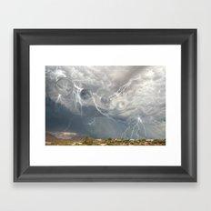 Arrival of the Monsoon Storm Generator Framed Art Print