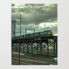 Philadelphia Skyline Freight Poster