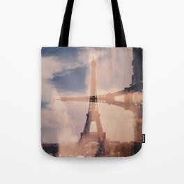 Dueling Eiffel Towers V2 // Paris Tote Bag