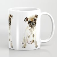 dorothy Mugs featuring Dorothy the Pug  by Bridget Davidson