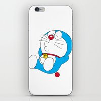 doraemon iPhone & iPod Skins featuring Doraemon relaxing style by Timeless-Id