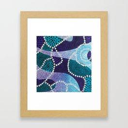 PsychePurple Rain Framed Art Print