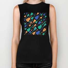 Guitars and notes musicians Biker Tank
