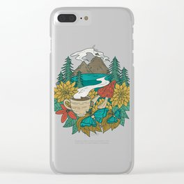 Pacific Northwest Coffee and Nature Clear iPhone Case