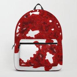 Red Ink Drop in Water - Mandala Backpack