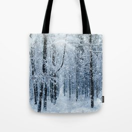 Winter wonderland scenery forest  Tote Bag