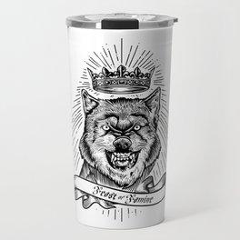"""Feast Or Famine"" – Crowned Wolf Travel Mug"