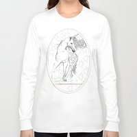 horses Long Sleeve T-shirts featuring Horses  by Magdalena Almero