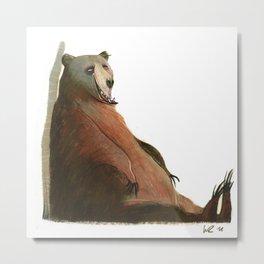 sitting bear Metal Print