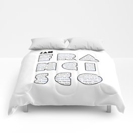 San Francisco in writing Comforters
