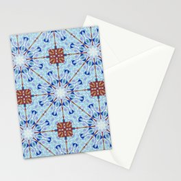 Nice and Blue Mandalic Pattern Stationery Cards