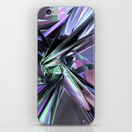 Abstract Metallic Reflections iPhone Skin