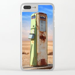 Old Gas Pump in Desert Clear iPhone Case