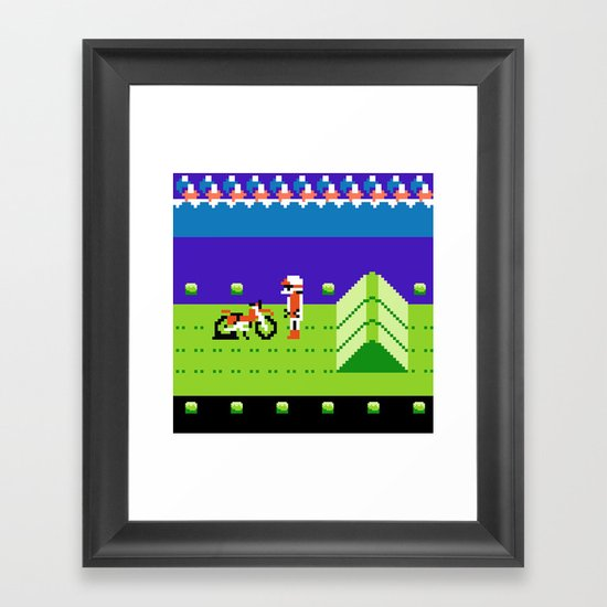Punctured Bike Framed Art Print