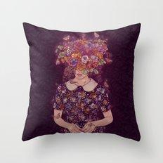 Shy Lady Throw Pillow