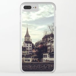 Zurich in Winter Switzerland Clear iPhone Case