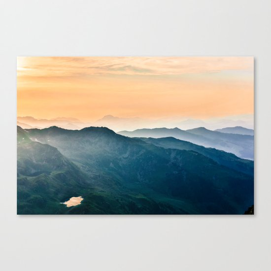 Early Morning Mountains Canvas Print