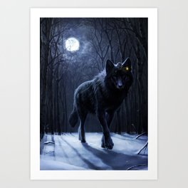 Encounter in the night Art Print