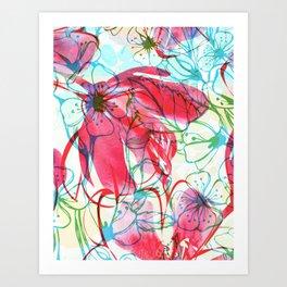 Sakura Japanese Painting Art Print