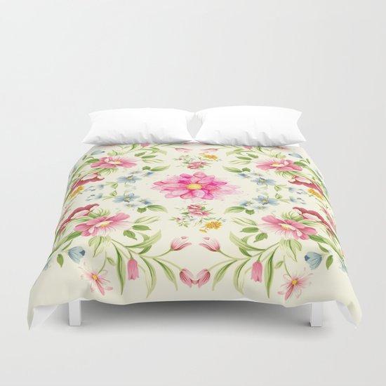 folk floral Duvet Cover