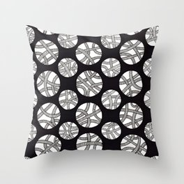 Tangled Pipes Throw Pillow