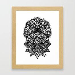Eye of God Flower Framed Art Print