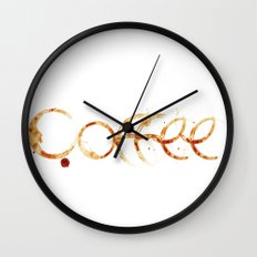 Coffe colors fashion Jacob's Paris Wall Clock