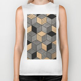 Concrete and Wood Cubes 2 Biker Tank