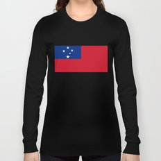 National flag of Samoa - Authentic version scale and color Long Sleeve T-shirt