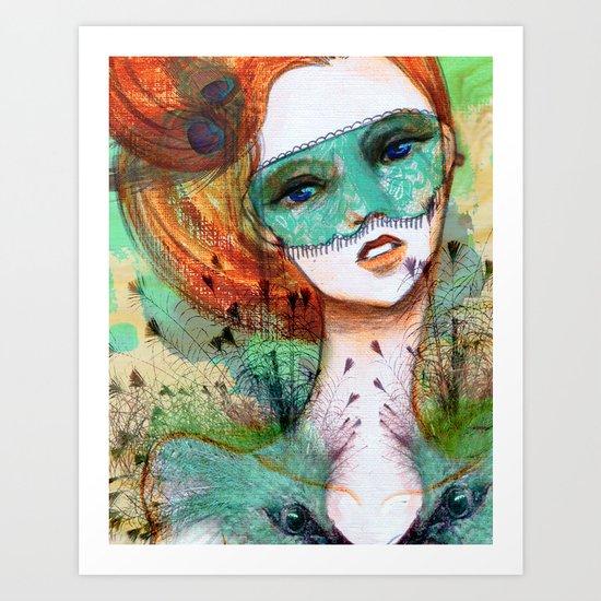 Vanity Verde Art Print